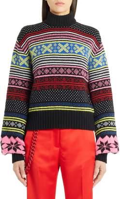 MSGM Fair Isle Wool Blend Sweater