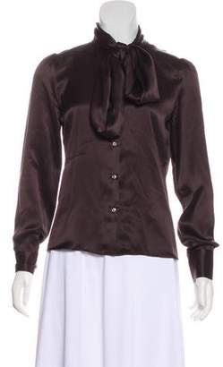 Luciano Barbera Button-Up Silk Top