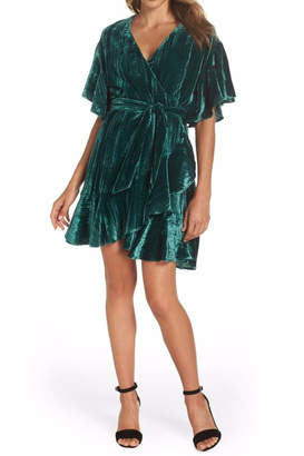BB Dakota Velvet Wrap Dress