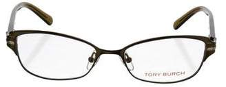 Tory Burch Narrow Metal Eyeglasses