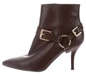 MICHAEL Michael Kors Leather Pointed-Toe Ankle Boots