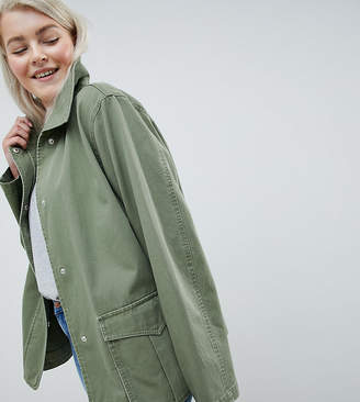 Asos DESIGN Curve washed cotton jacket
