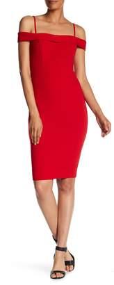 Bebe Crepe Cold Shoulder Dress