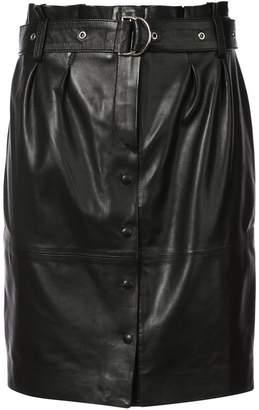 IRO belted button skirt