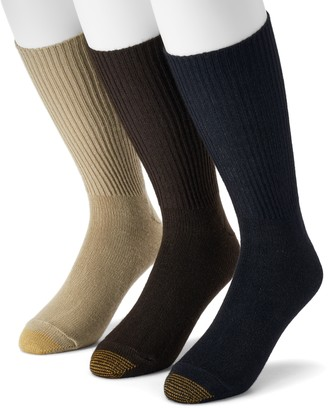 Gold Toe Goldtoe Extended Size GOLDTOE 3-pk. Fluffies Crew Socks