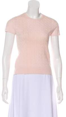 White + Warren Cashmere Short Sleeve Top