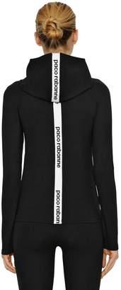Paco Rabanne Back Logo Jersey Sweatshirt Hoodie