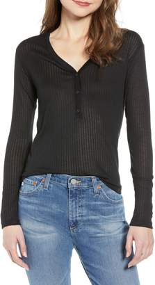 Treasure & Bond V-Neck Henley Top