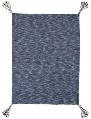 Kas Navy Montauk Cotton Throw