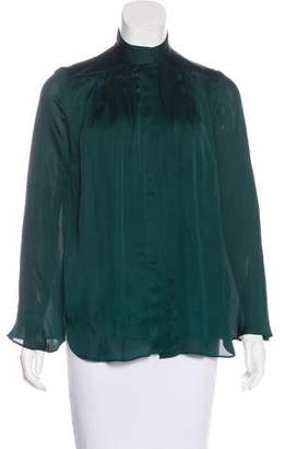 Theyskens' Theory Silk Button-Up Blouse