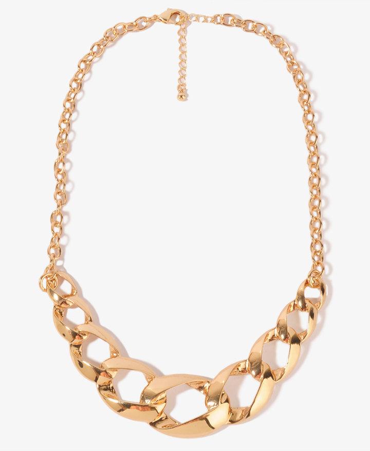 FOREVER 21 Link Bib Necklace