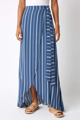 Sage The Label Stripe Maxi Wrap Maxi Skirt