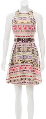 Nicole Miller Printed Sleeveless Dress w/ Tags