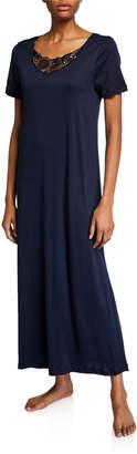 Hanro Flora Short-Sleeve Nightgown