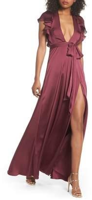 Jill Stuart Ruffle Sleeve Gown