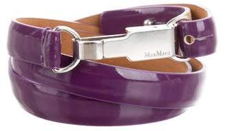 Max Mara Patent Leather Skinny Belt