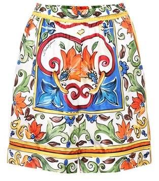 Dolce & Gabbana Printed silk shorts