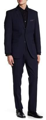 Perry Ellis Notch Collar Stripe Trim Fit 2-Piece Suit