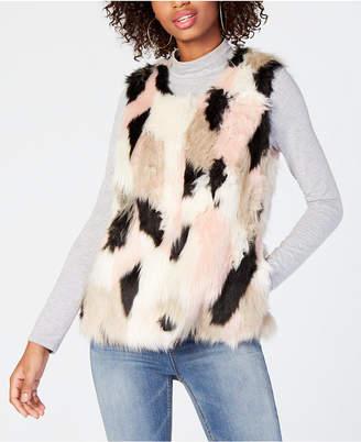 Say What Juniors' Faux-Fur Vest