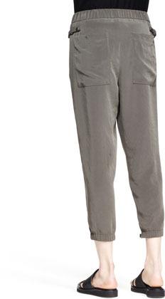 Helmut Lang Terra Pleated Cropped Pants