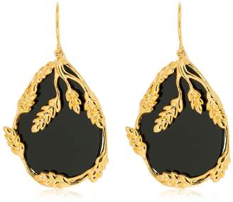 Aurelie Bidermann Francoise Onyx Pendants Earrings