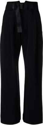 Issey Miyake buckle fastening trousers