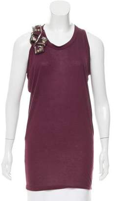 Lanvin Sleeveless Embellished Top