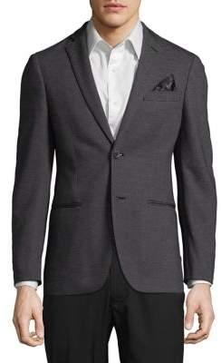 Tallia Orange Slim-Fit Stripe Sportcoat