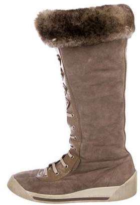 Marc Jacobs Suede Knee-High Sneaker Boots