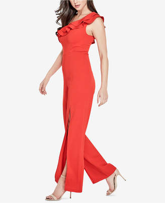 GUESS Ruffled One-Shoulder Jumpsuit