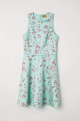 H&M Patterned Satin Dress - Green