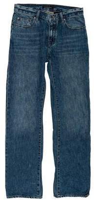 John Varvatos Five-Pocket Straight-Leg Jeans