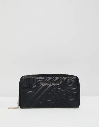 Versace baroque zip around wallet