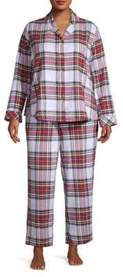 Lord & Taylor Flannel Two-Piece Pajama Set