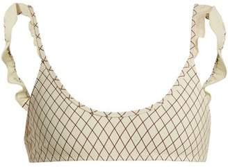 Made By Dawn - Petal Scoop Neck Bikini Top - Womens - Cream