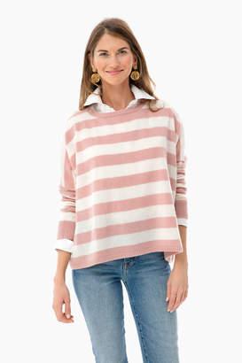 Minnie Rose Striped Scottie Cashmere Sweater