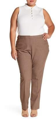 Amanda & Chelsea Melange Solid Pants (Plus Size)