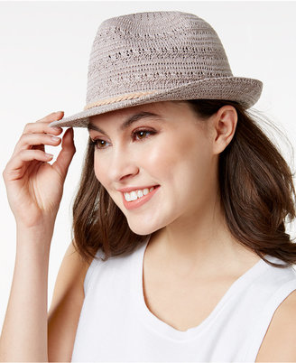 INC International Concepts Crochet Packable Fedora, Only at Macy's $28.50 thestylecure.com