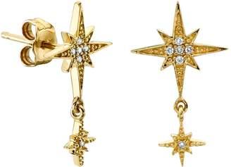 Sydney Evan Yellow Gold Starburst Drop Earrings