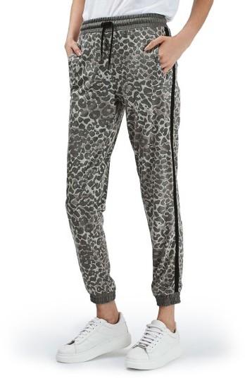TopshopWomen's Topshop Leopard Print Jogger Pants