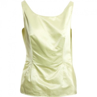 Valentino Yellow Silk Tops