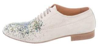 Maison Margiela Suede Paint Splatter Oxfords