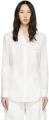 Y's Ys White U-Double Collar Shirt