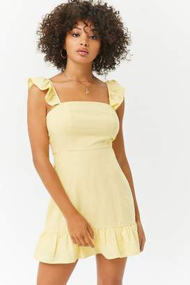 Forever 21 Ruffled Linen-Blend Dress