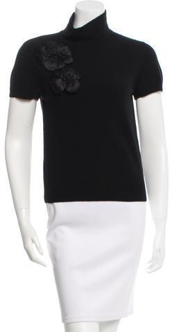ValentinoValentino Embellished Wool & Cashmere-Blend Top