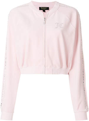 Juicy Couture Swarovski embellished velour crop jacket
