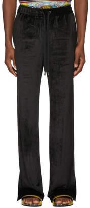 Versace Black Chenille Lounge Pants