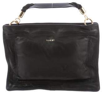 Sacai Leather Shoulder Bag