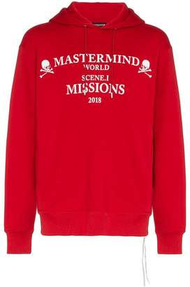 Mastermind Japan missions logo cotton hoodie