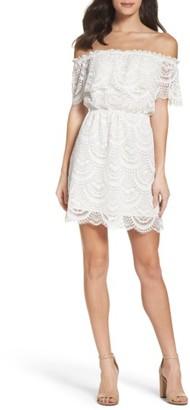 Women's Bb Dakota Hope Off The Shoulder Lace Dress $100 thestylecure.com